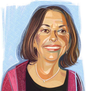 Connecting matters: Helen Tager-Flusberg links autism science to society. Illustration by Ivan Canu
