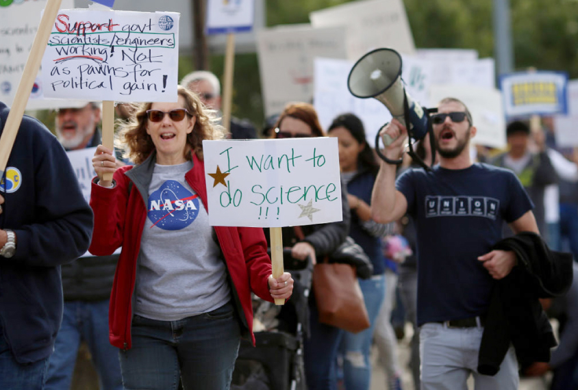 Scientists and others protest over government shutdown