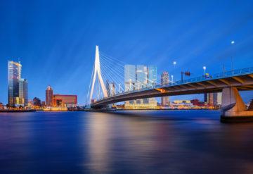 Rotterdam night landscape