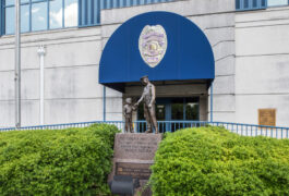 Front of Police station