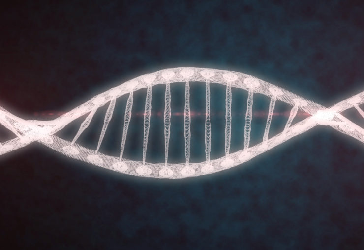 DNA twisting in black space