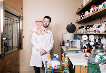 Portrait of Dr. Michael Gandal in his lab.