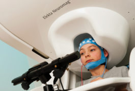 Child in MEG with eeg cap