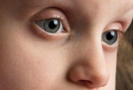 Close up of child's eyes
