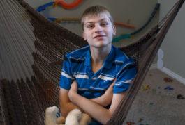 James at his home in Salt Lake City