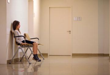 girl in medical setting