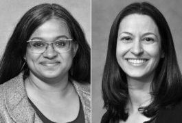 Portraits of Suma Jacob and Christina Conelea