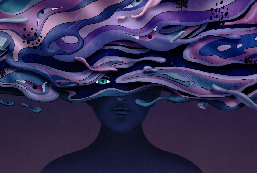 Penderita psikosis dapat mengalami halusinasi dan/atau delusi