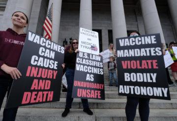 抗疫苗抗议者