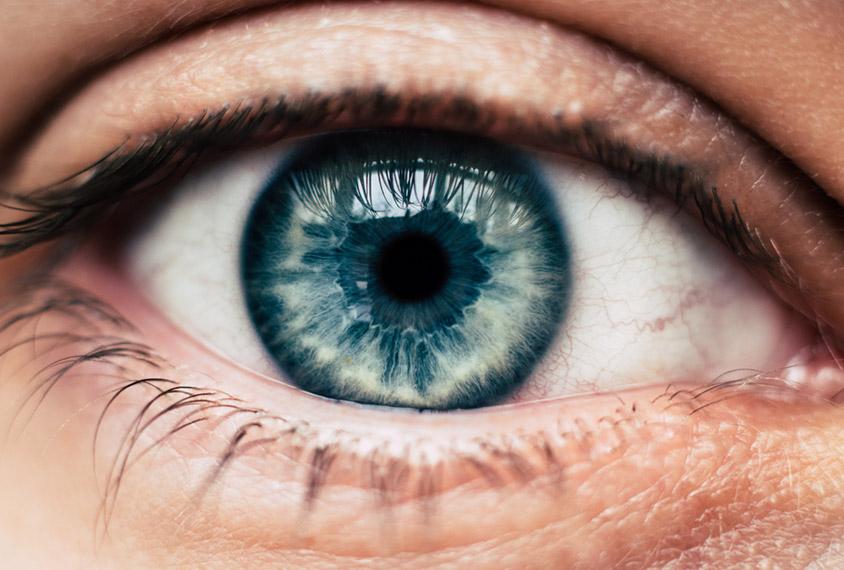 Close up view of human eye.