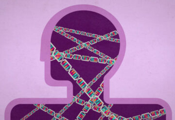 DNA helix inside the human body