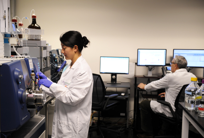 Photograph of lab researchers at Ultragenyx