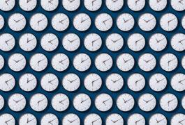显示不同时间的时钟网格