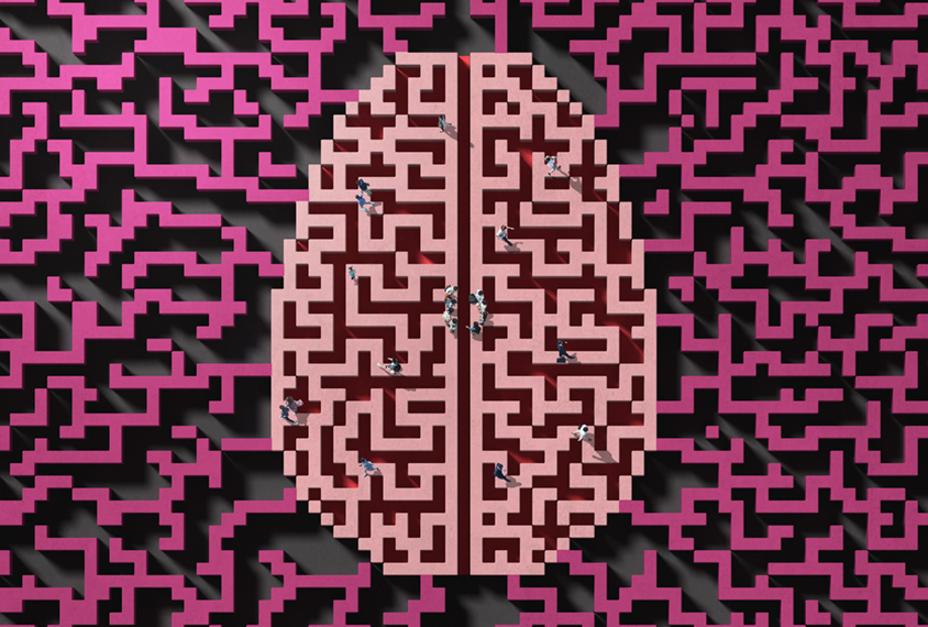 脑模式与人聚集