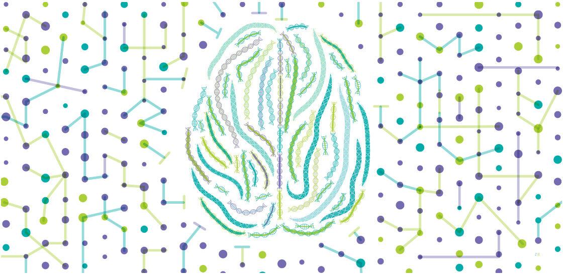 大脑由分子形状背景的DNA链制成