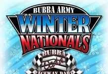 Bubba Raceway Park and NeSmith Racing officials have released the 2017 Bubba Army Winter Nationals event schedule.