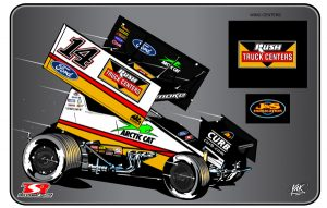 The sprint car that Tony Stewart will drive in 2017.