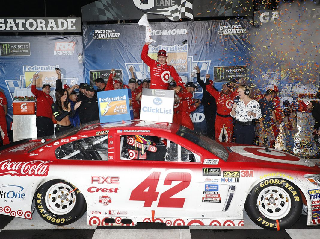 Larson closes regular season with richmond win speed sport for Larson motors used cars