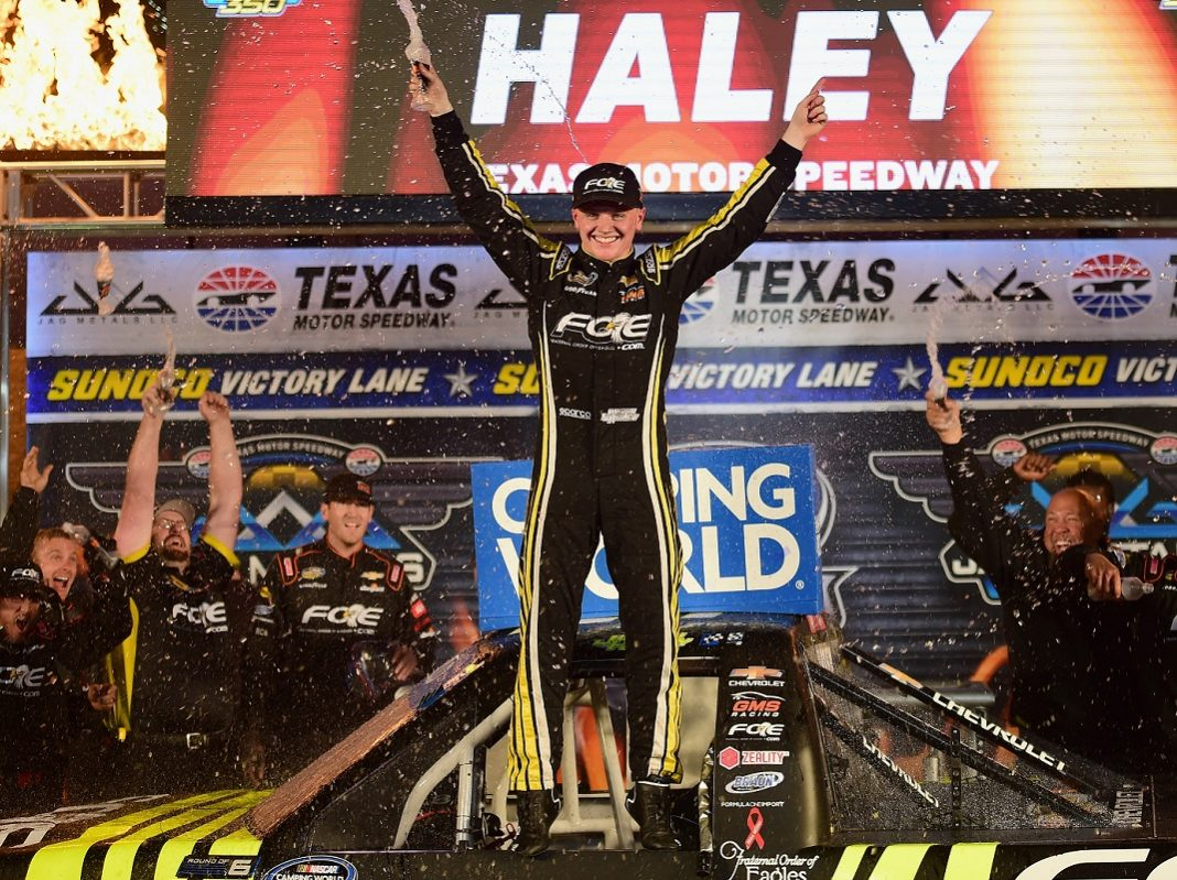 Gilliland Runs Dry, Haley Steals Texas Truck Victory - Race Results