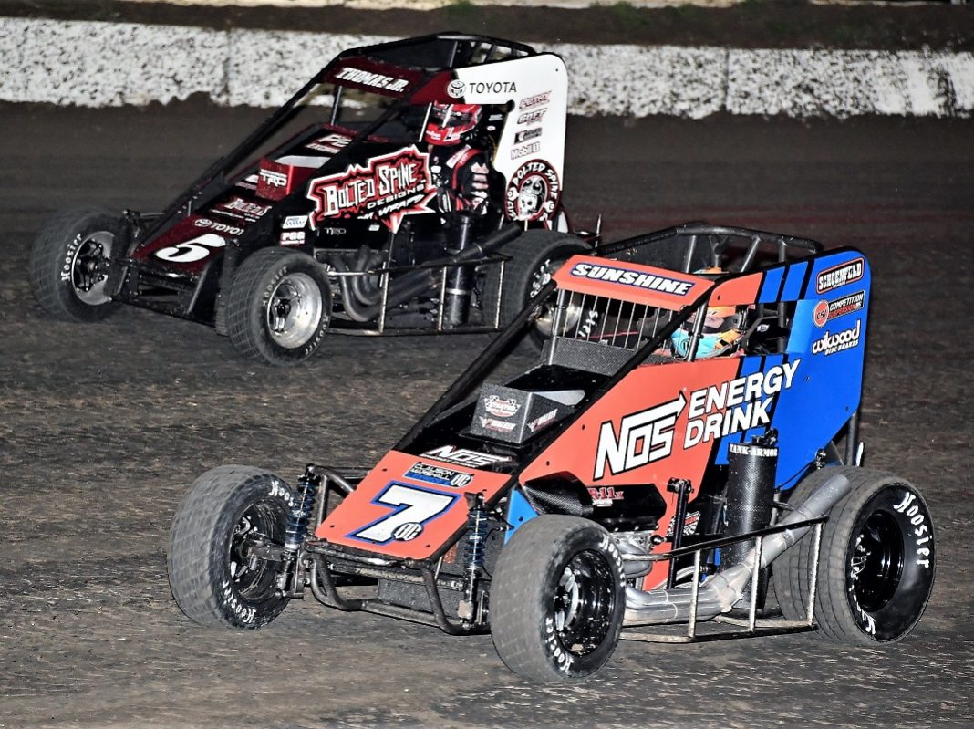 it's all sunshine in usac midget season opener | speed sport