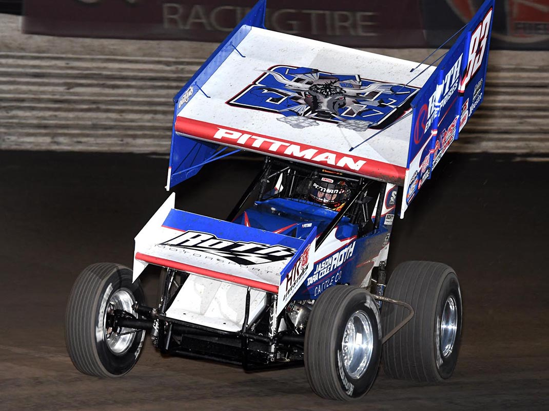 Daryn Pittman will remain with Roth Motorsports for another season of competition with the World of Outlaws NOS Energy Drink Sprint Car Series. (Frank Smith Photo)