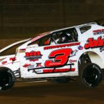 Marc Johnson en route to victory at Albany-Saratoga Speedway. (Dave Dalesandro photo)