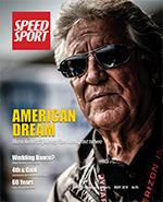 Mario Andretti on the May over of SPEED SPORT Magazine