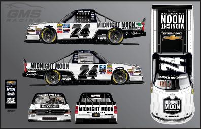 Brett Moffitt will have sponsorship from Midnight Moon Moonshine at Charlotte Motor Speedway.