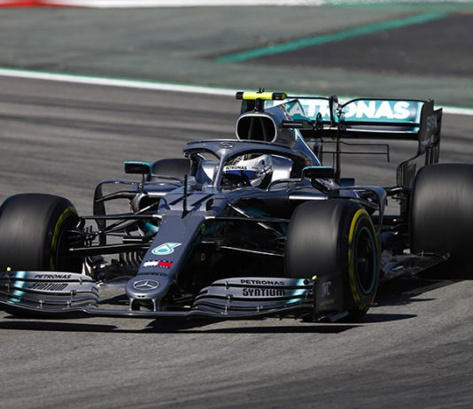 Valtteri Bottas led the way during Formula One practice Friday in Spain. (Mercedes Photo)