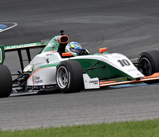 Rasmus Lindh secured his first Indy Pro 2000 triumph on Friday at Indianapolis Motor Speedway. (Al Steinberg Photo)