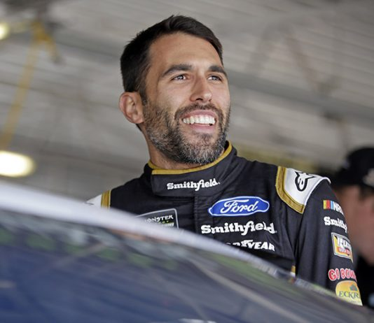 Aric Almirola was among 11 teams who failed inspection Saturday at Kansas Speedway. (HHP/Alan Marler Photo)