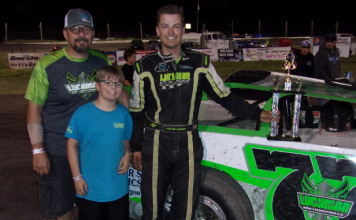 Preston Luckman won the 25-lap late model feature Saturday night at Southern Oregon Speedway