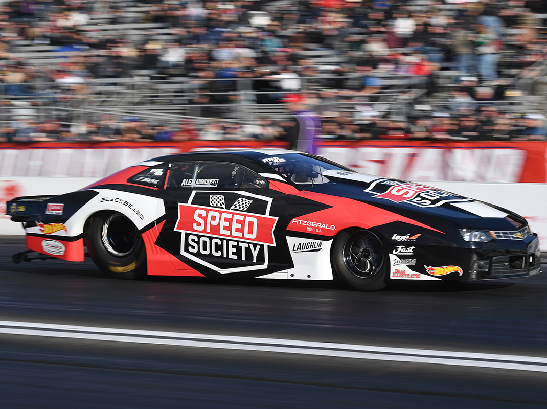Alex Laughlin in action in 2019. (NHRA Photo)