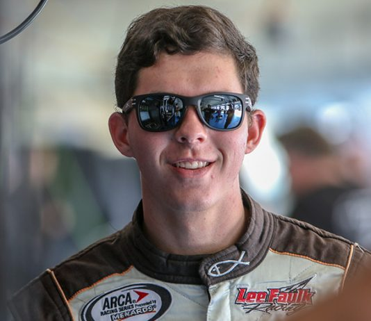 Cole Glasson will skip the Charlotte Motor Speedway ARCA Menards Series race and will instead compete at Pocono Raceway on May 31. (Adam Fenwick Photo)