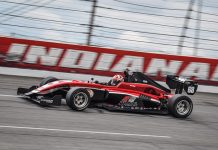 Danial Frost was fastest in Indy Pro 2000 testing Monday at Lucas Oil Raceway.