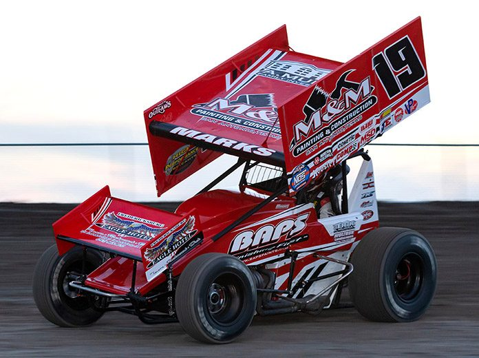 Brent Marks is hoping to rejuvenate his season when the World of Outlaws NOS Energy Drink Sprint Car Series heads to the Northeast. (Vince Vellella Photo)