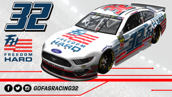 Freedom Hard will back Go Fas Racing and Corey LaJoie this weekend at Charlotte Motor Speedway.