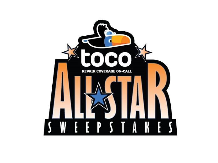 Toco Allstar Sweepstakes Logo Speed Sport