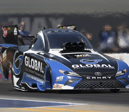 Shawn Langdon is carrying momentum into the NHRA Virginia Nationals. (NHRA Photo)