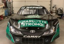 Ryan Repko's race car will pay tribute to the victims of the recent UNC Charlotte shooting this weekend at Motor Mile Speedway. (Photo Courtesy of Ryan Repko)
