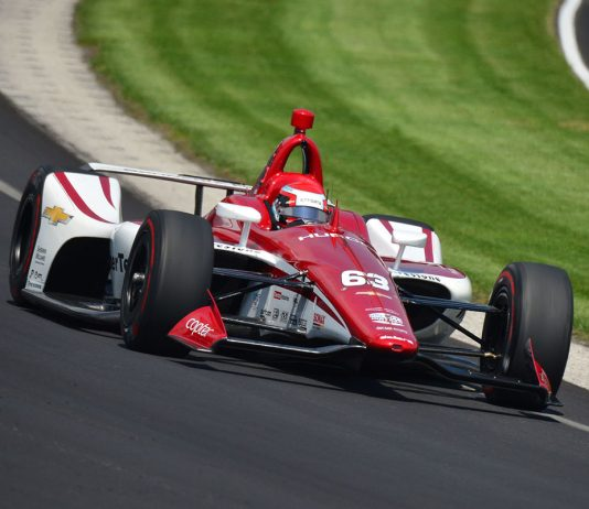 Ed Jones was fastest Thursday at Indianapolis Motor Speedway. (Dave Heithaus Photo)