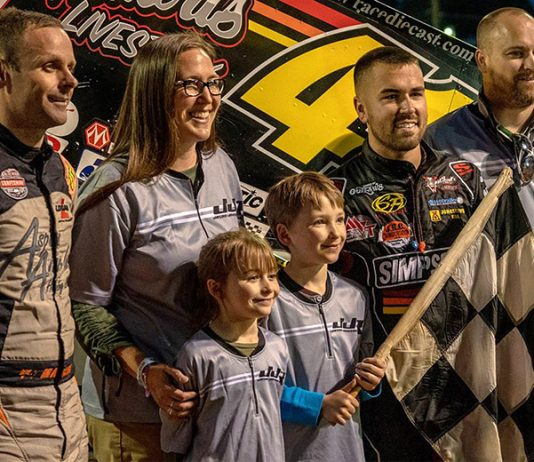 Jason Johnson Racing helped make Ayden Gora's dream come true on Wednesday at Lincoln Speedway. (Finishline Productions Photo)