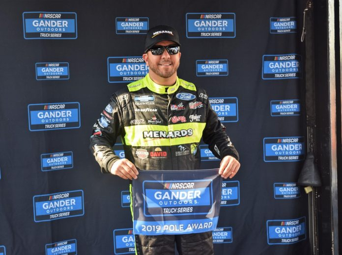 Matt Crafton will start from the pole in Friday's NASCAR Gander Outdoors Truck Series race at Charlotte Motor Speedway. (Jacob Seelman Photo)