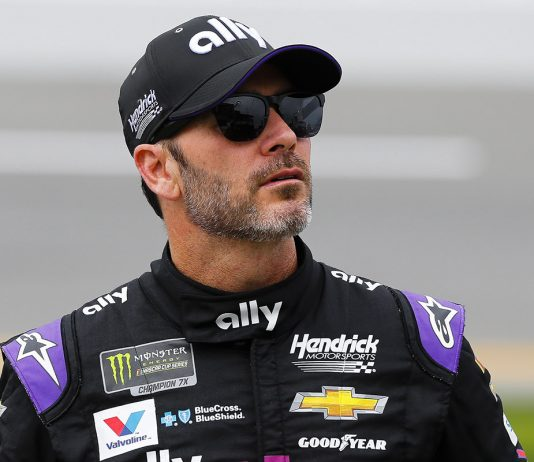 Jimmie Johnson earlier this year at Daytona Int'l Speedway. (HHP/Barry Cantrell Photo)