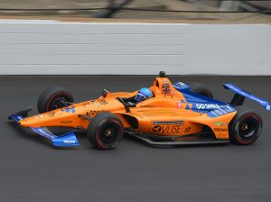Fernando Alonso finally got back on track Friday at Indianapolis Motor Speedway. (Dave Heithaus Photo)