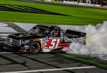 Kyle Busch Burnout Charlotte Truck Race