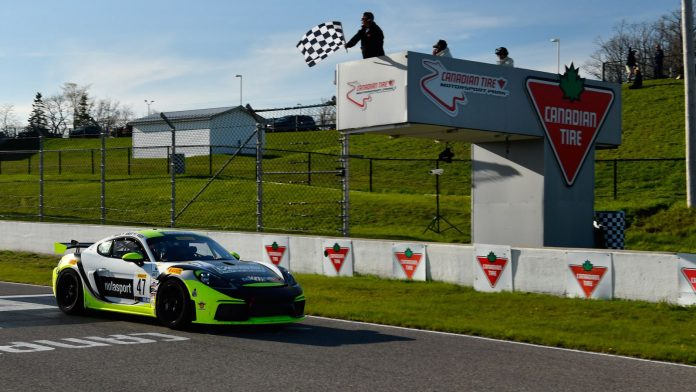 Matt Travis and Jason Hart earned another Pirelli GT4 SprintX victory Friday in Canada.