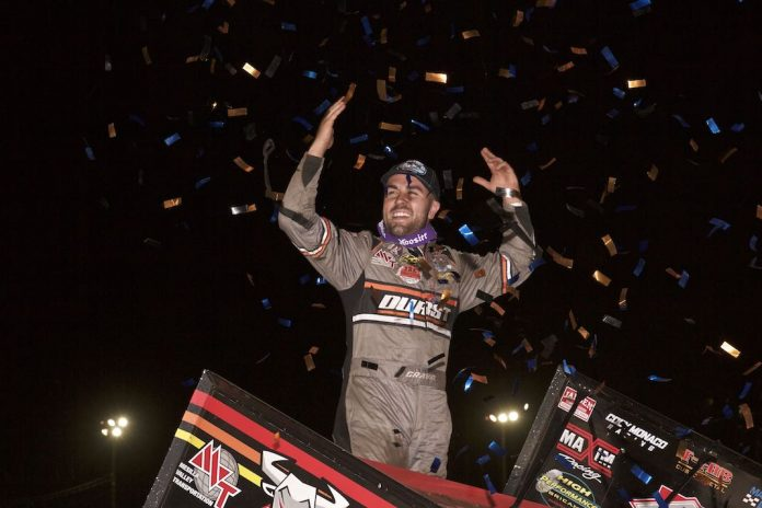 David Gravel in victory lane at Williams Grove Speedway. (Dan Demarco photo)