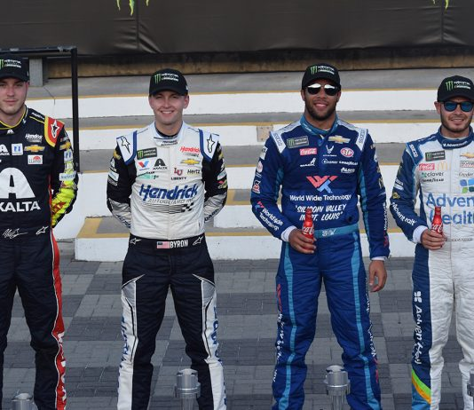 Alex Bowman, William Byron, Bubba Wallace and Kyle Larson earned spots in the Monster Energy NASCAR All-Star Race. (Jacob Seelman Photo)