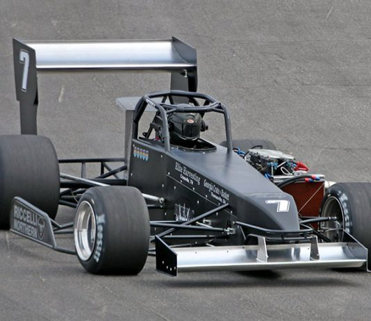 Otto Sitterly was fastest during open practice Saturday at Oswego Speedway. (Bob Clark Photo)